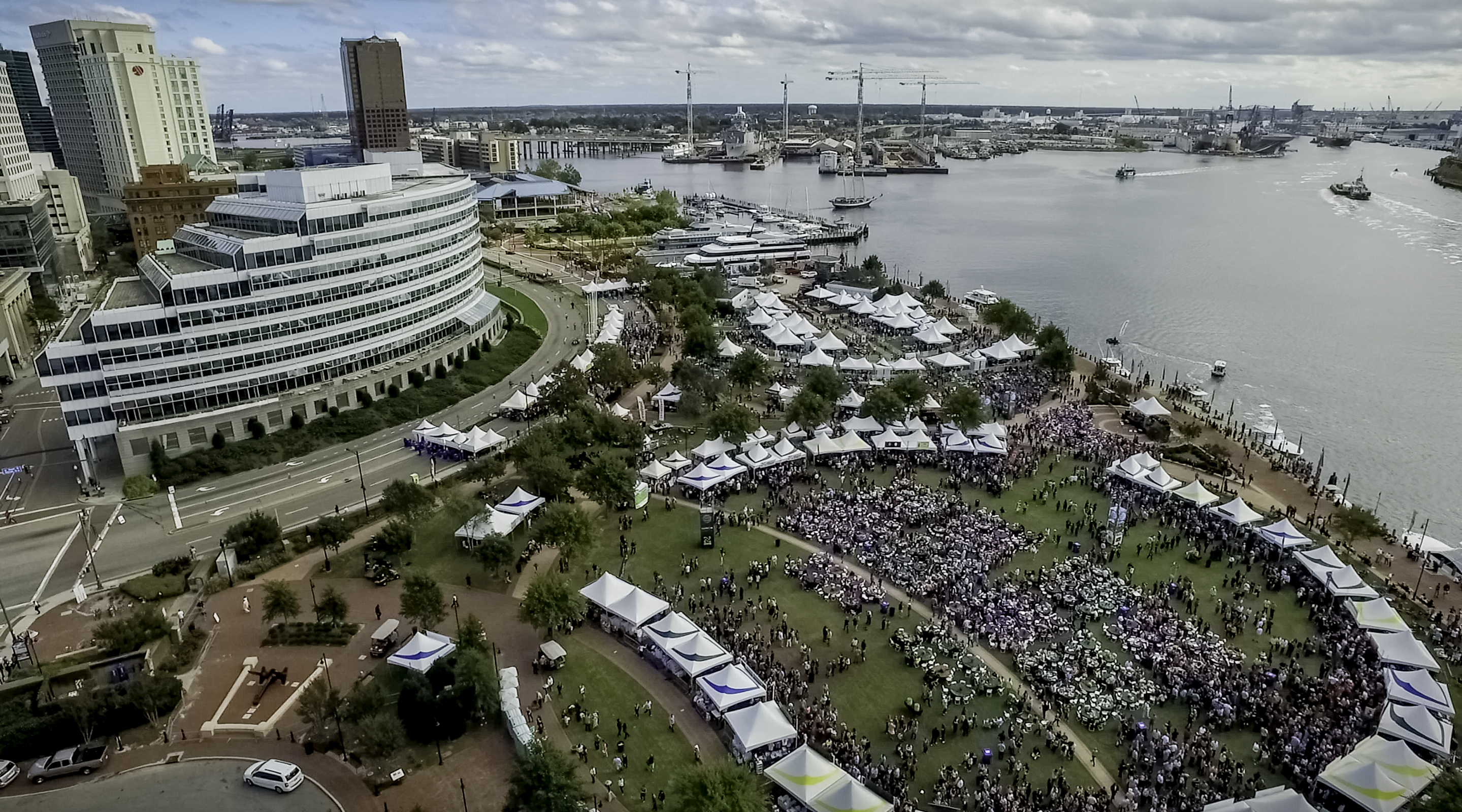 Town Point Park Festival Aerial Image
