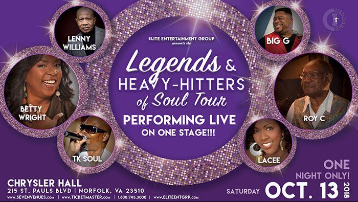 Legends & heavy hitters concert graphic