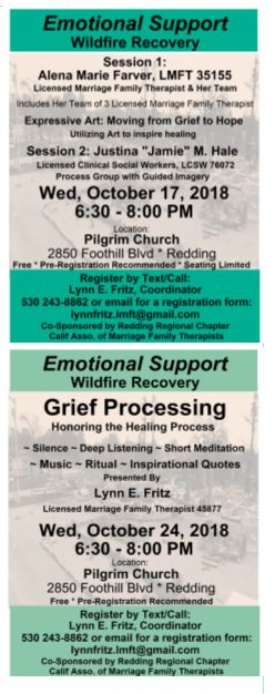 Emotional Support Sessions October 17 and 24