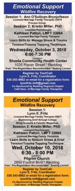 Emotional Support Sessions October 3 and 10
